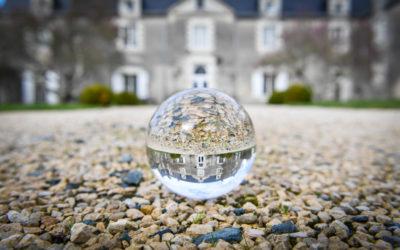 Façade du Château dans la boule de cristal
