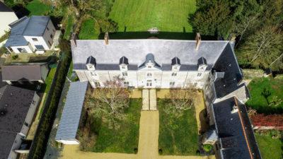 Vue de drône du château