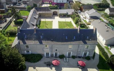 Vue aérienne de la Cour du Château